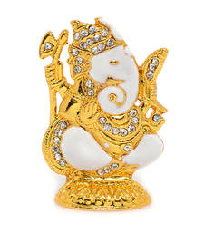 Buy Religious Metal and stone studded Shakathi Ganesh Idol Other online