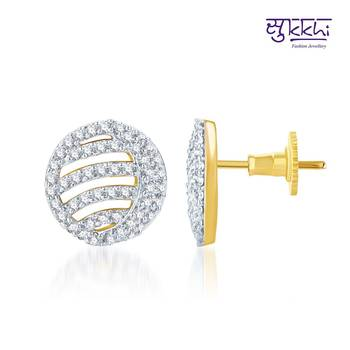 Sukkhi Ritzzy Gold and Rhodium Plated CZ Earrings(135E1850)