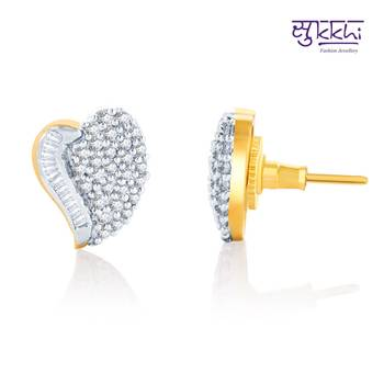 Sukkhi Fine Design Gold and Rhodium Plated CZ Earrings(143E1050)