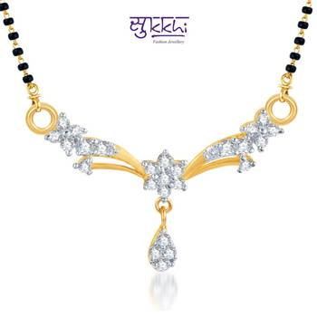 Sukkhi Classic Traditional CZ Gold and Rhodium Plated mangalsutra(116M450)