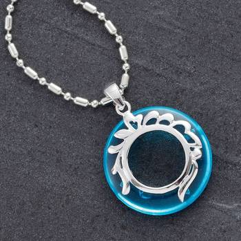 Silver and Agate Ring Pendant