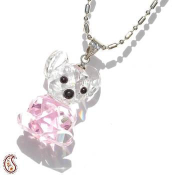 Teddy Bear Crystal Pendant
