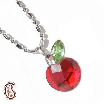 Red Apple Crystal Pendant