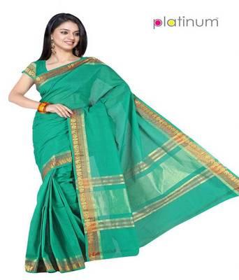 Platinum Latest Ethnic Pure Cotton Bridal Formal Wear Saree Sari PS087