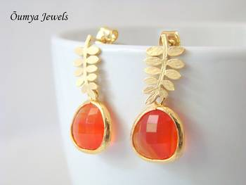 Sunset branch earrings