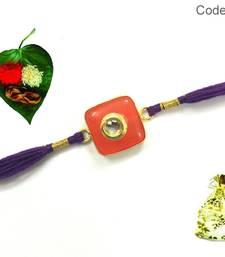 Buy Kundan Designer Semi precious  Rakhi precious-rakhi online