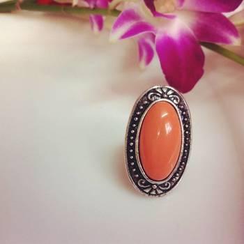 Orange Adjustable Ring