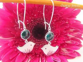 Fly me High - Sparrow bird earrings