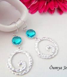 Buy Silver Spiral earrings danglers-drop online