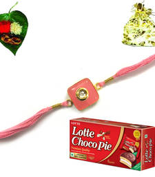 Buy Online Jewel Rakhi  with Chocolate send-rakhi-to-indium online