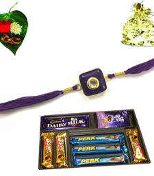 Buy Multipurpose Royal Jewel Rakhi Chocolate jeweled-rakhi online