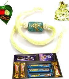 Buy Jewel Kundan 2015 Rakhi  with Chocolate rakhi-with-chocolate online