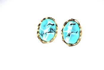 Asymmetric stud earrings