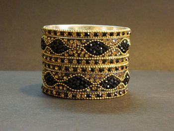 Indian handmade designer Black  Bangle