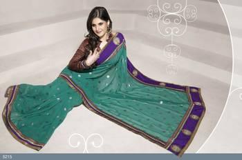 Designer Elegant Zarine Khan Bollywood Sari STUDIO5215