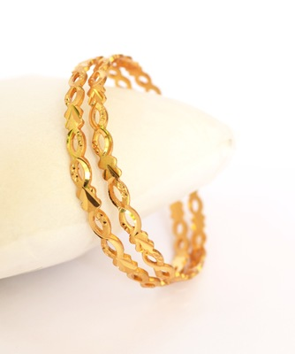 Gold Plated Machine cut bangles