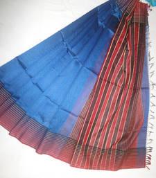 Buy royal blue woven maheshwari saree with blouse maheshwari-saree online