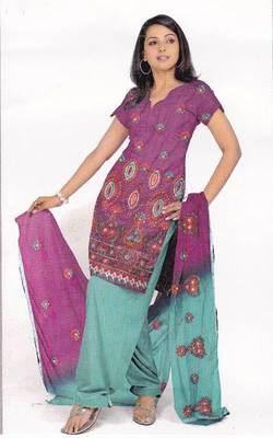 Just Women - Embroidered Unstitched Dress Material