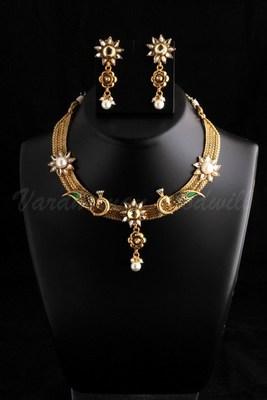 polki necklace in moti designs vgnl 488