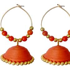 Buy Orange danglers-drops jewellery-below-200 online
