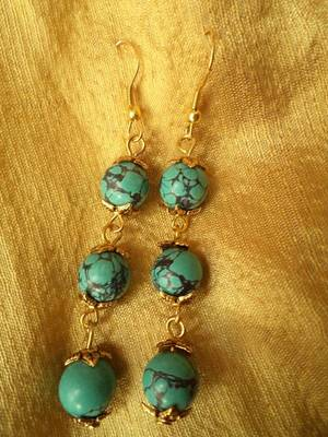 Hanging Turquoise Earrings-02037
