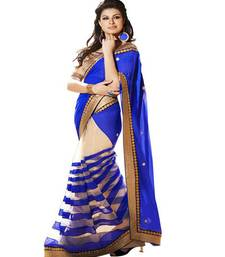 Buy Blue embroidered georgette saree with blouse bollywood-saree online